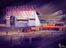 'Going to the Match Bantams Style' Bradford City Valley Parade Stadium 20'' x 30'' Box Canvas